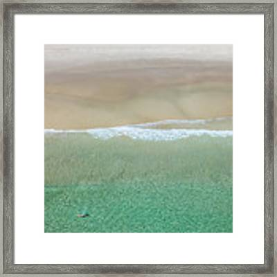 Byron Bay Swimmers Framed Print by Chris Cousins
