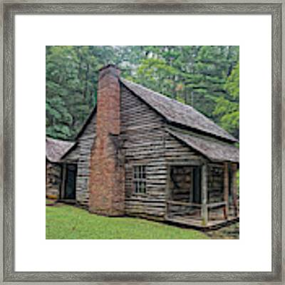 Cabin In The Woods - Fractals Framed Print by Ericamaxine Price