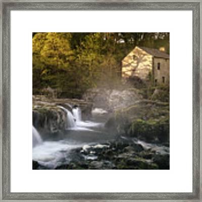 Cenarth Falls At Sunrise Framed Print by Elliott Coleman