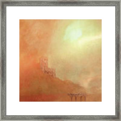 Castles In The Air Framed Print by Valerie Anne Kelly