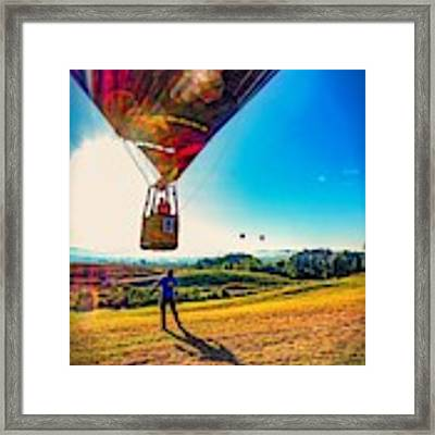 Catch Me If You Can. Framed Print by Kendall McKernon