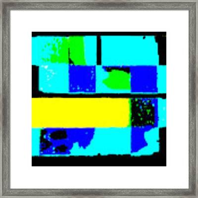 Cityscapec 4000 Original Fine Art Painting Digital Abstract Triptych Framed Print by G Linsenmayer