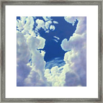 Cloudscape - 8-27-18 Framed Print by James W Johnson