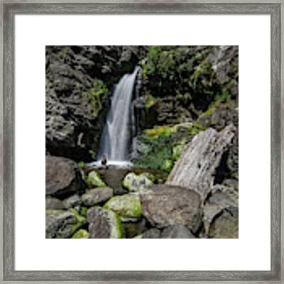 Coastal Falls Framed Print by Margaret Pitcher