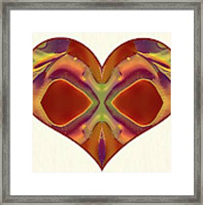 Colorful Heart - Naked Truth - Omaste Witkowski Framed Print by Omaste Witkowski