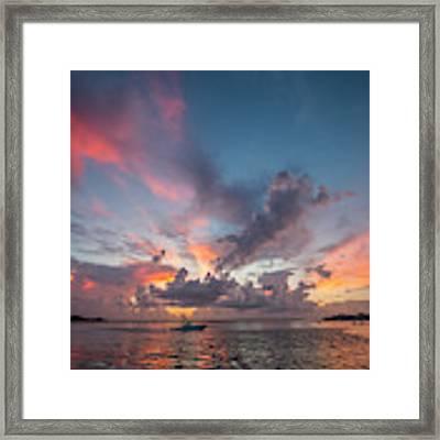 Colorful Sandsprit Sunrise Framed Print by Tom Claud