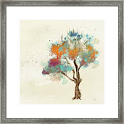 Colorful Tree Framed Print by Lois Bryan