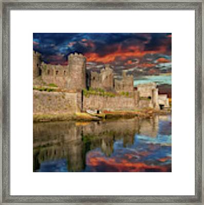 Conwy Castle Sunset Framed Print by Adrian Evans