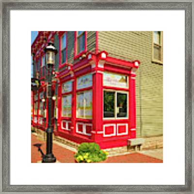 Corner Bar In Mt. Adams Framed Print by Mel Steinhauer