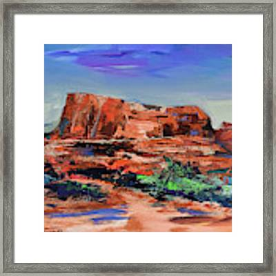 Courthouse Butte Rock - Sedona Framed Print by Elise Palmigiani