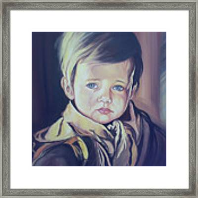 Crying Child Framed Print by Said Marie
