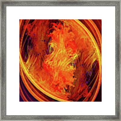 Dantes Inferno Framed Print by Skip Hunt