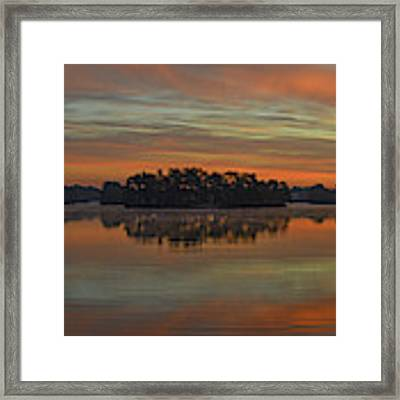 December Sunrise Over Spring Lake Framed Print by Beth Sawickie