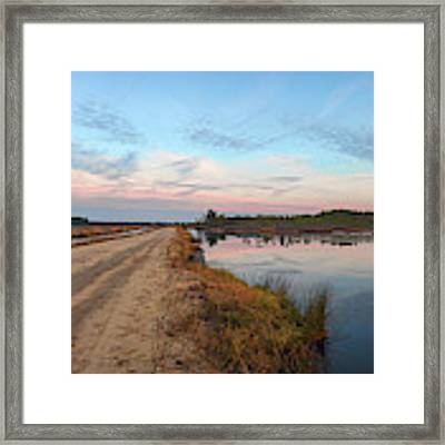 December Sunset At Whitesbog Nj Framed Print by Beth Sawickie