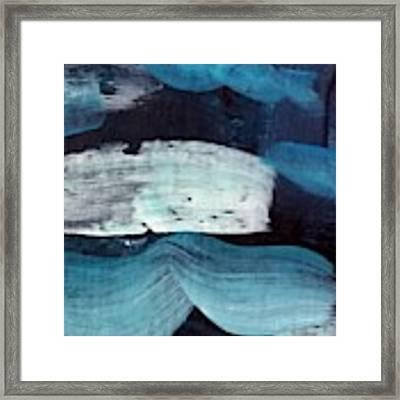Deep Blue #3 Framed Print by Maria Langgle