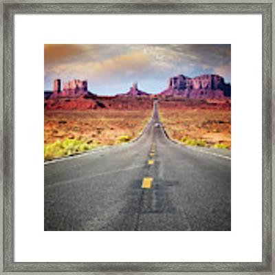 Desert Drive Framed Print by Scott Kemper