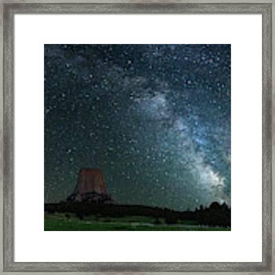 Devil's Tower At Night Framed Print by Gary Lengyel