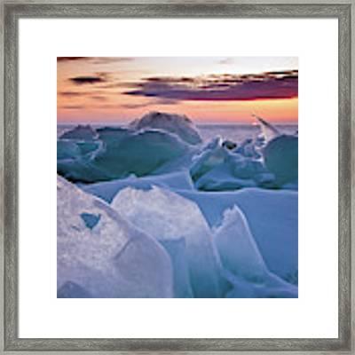 Door County, Wisconsin Sunset Framed Print by Sam Antonio Photography