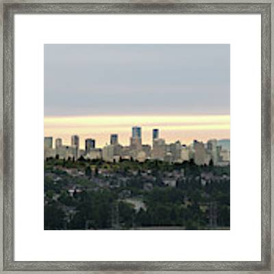 Downtown Sunset Framed Print by Juan Contreras