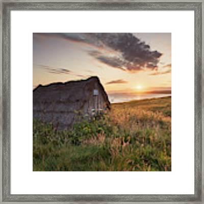 Drying Hut - Freshwater West Framed Print by Elliott Coleman