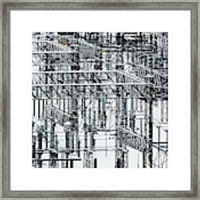 Electrical Substation Framed Print by Juan Contreras