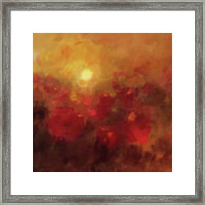 Evening Glow Framed Print by Valerie Anne Kelly