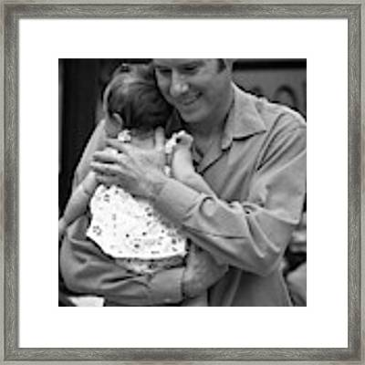 Father And Daughter Framed Print by Catherine Sobredo