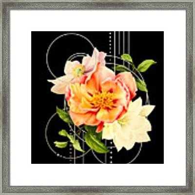 Floral Abstraction Framed Print by Bee-Bee Deigner