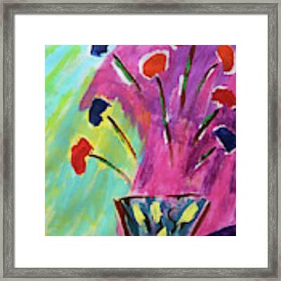 Flowers Gone Wild Framed Print by Deborah Boyd