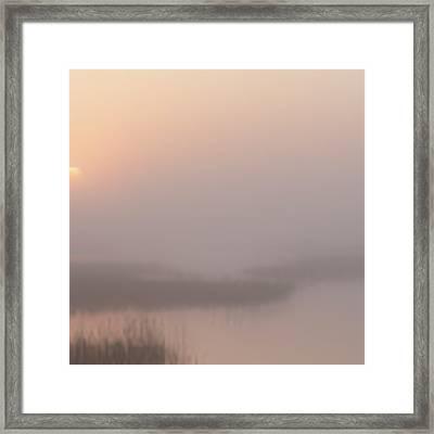 Foggy Sunrise At Cheyenne Bottoms -01 Framed Print by Rob Graham