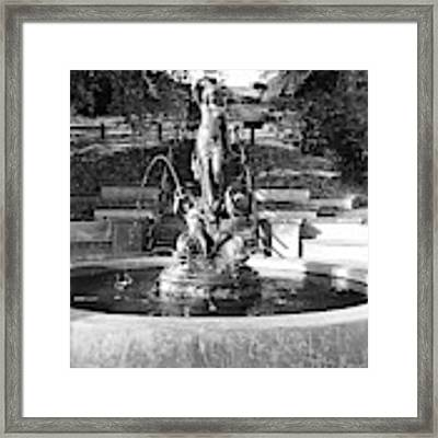 Fountain Framed Print by Jeni Gray