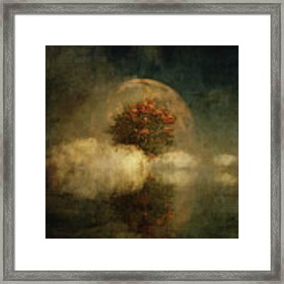 Full Moon Over Misty Water Framed Print by Jan Keteleer