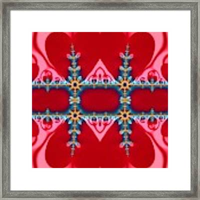 Gods Love And Mercy Is Infinite Fractal Abstract Hearts Framed Print by Rose Santuci-Sofranko
