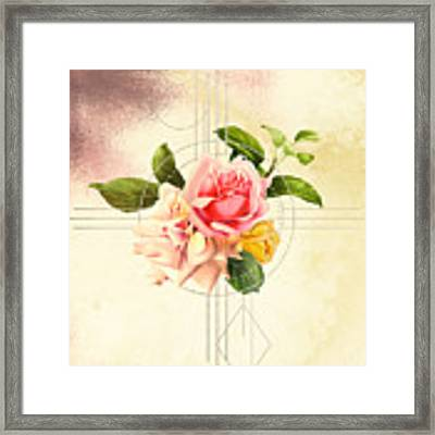 Golden Abstraction Framed Print by Bee-Bee Deigner