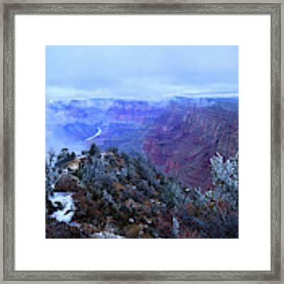 Grand Canyon Winter Scene Framed Print by Chance Kafka