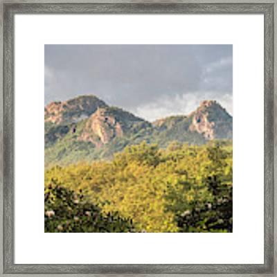 Grandfather Mountain Framed Print by Ken Barrett