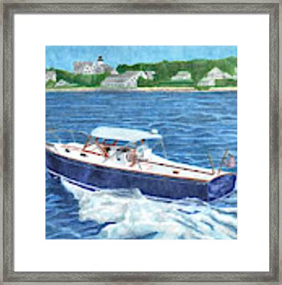 Great Ackpectations Nantucket Framed Print by Dominic White