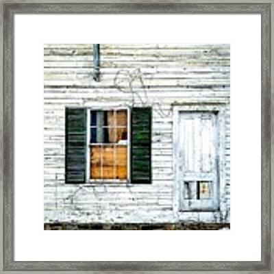 Green Shutters Framed Print by Kendall McKernon