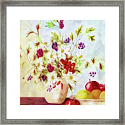 Harvest Time-still Life Painting By V.kelly Framed Print by Valerie Anne Kelly
