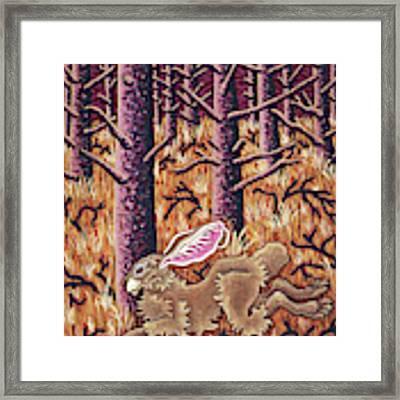 Hazy Purple Hustle Framed Print by Amy E Fraser