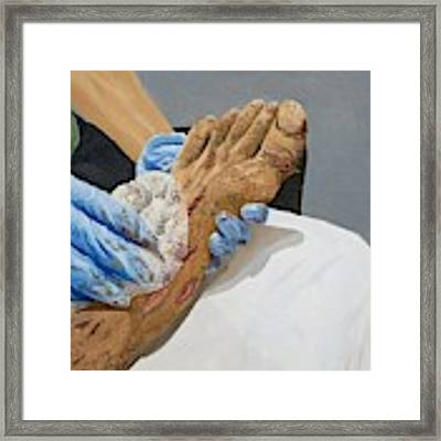 Healing Hands Framed Print by Kevin Daly