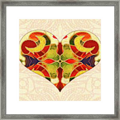 Heart Illustration - Creating Passionate Experience - Omaste Witkowski Framed Print by Omaste Witkowski