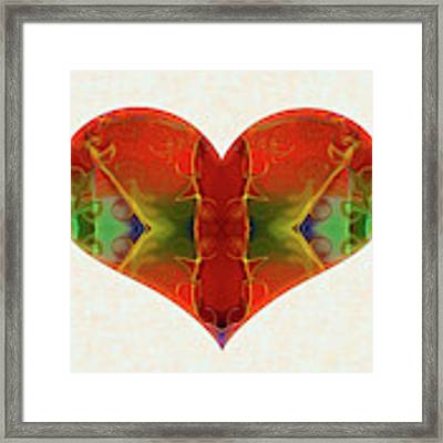 Heart Painting - Vibrant Dreams - Omaste Witkowski Framed Print by Omaste Witkowski