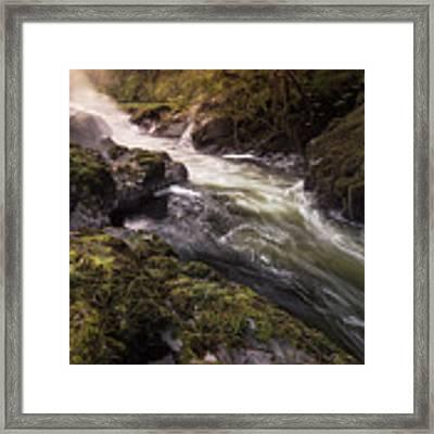 The Teifi At Henllan Falls Framed Print by Elliott Coleman