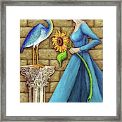 Heron's Flame Framed Print by Amy E Fraser