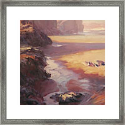 Hidden Path To The Sea Framed Print by Steve Henderson
