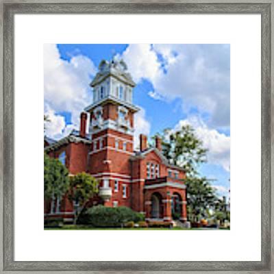 Historic Gwinnett County Courthouse Framed Print by Doug Camara