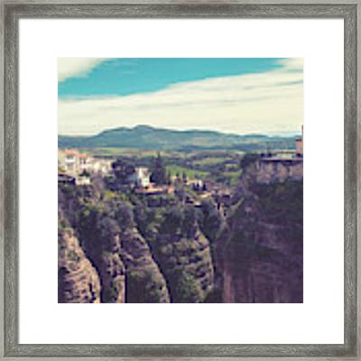 historical village of Ronda, Spain Framed Print by Ariadna De Raadt