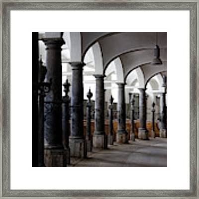 Horse Stalls Of The Royal Stables In Copenhagen Denmark Framed Print by William Dickman
