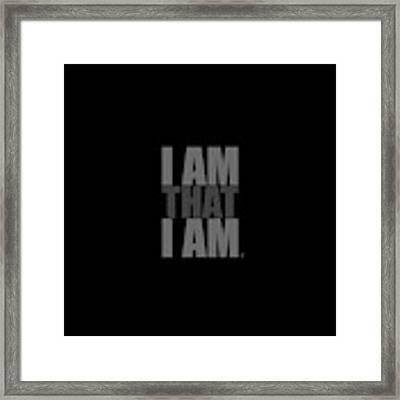 I Am That I Am Framed Print by Tim Gainey